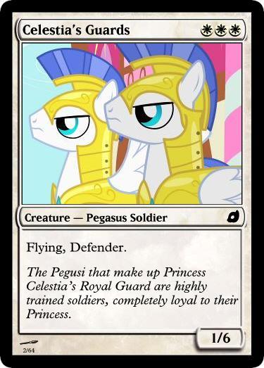 Celestia's Guards - FiMtG by Kitonin