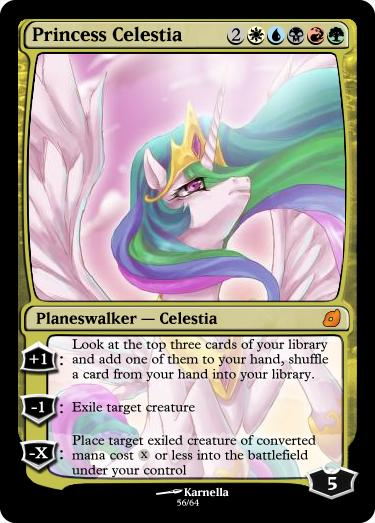 Princess Celestia - FiMtG by Kitonin