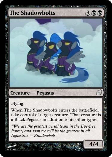 The Shadowbolts - FiMtG by Kitonin