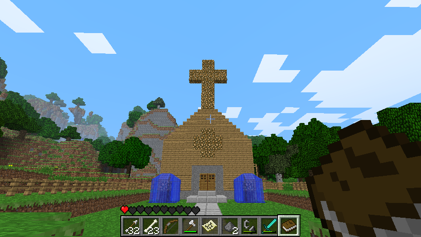 Minecraft church build by coolguy1000 on deviantart for Michaels crafts manchester ct