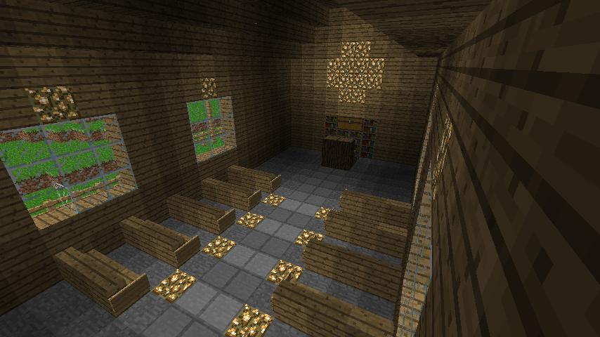 Minecraft church interior by coolguy1000 on deviantart for Interior designs minecraft