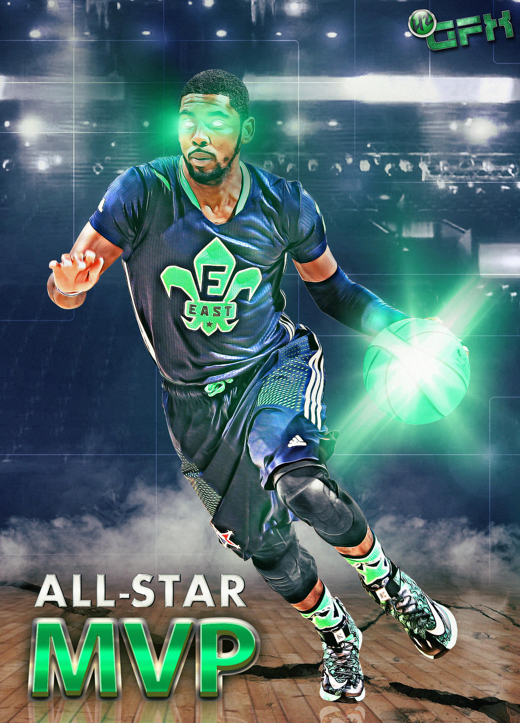 2014 NBA All Star MVP Kyrie Irving By HZ Designs