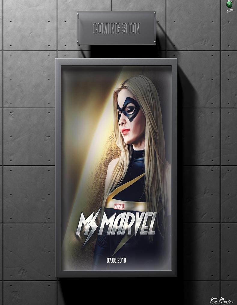 MsMarvel Movie Poster Design Mockup Coming Soon By HZ Designs