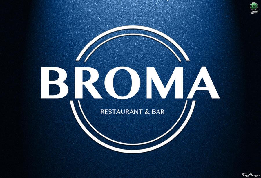 Bar Restaurant Logo Design Broma Restaurant Bar Logo Design by no Look Pass