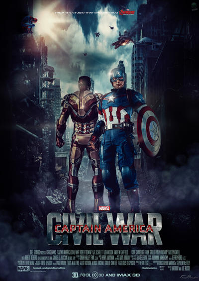 captain america civil war movie poster 2 by hzdesigns on