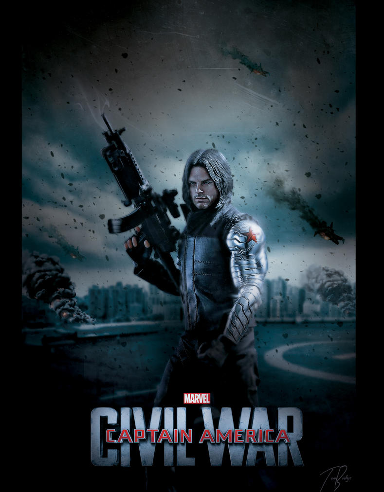 captain america civil war poster winter soldier by hz