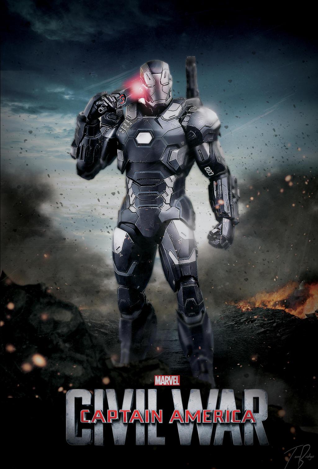 Captain America Civil War Poster :War Machine by HZ-Designs on ...