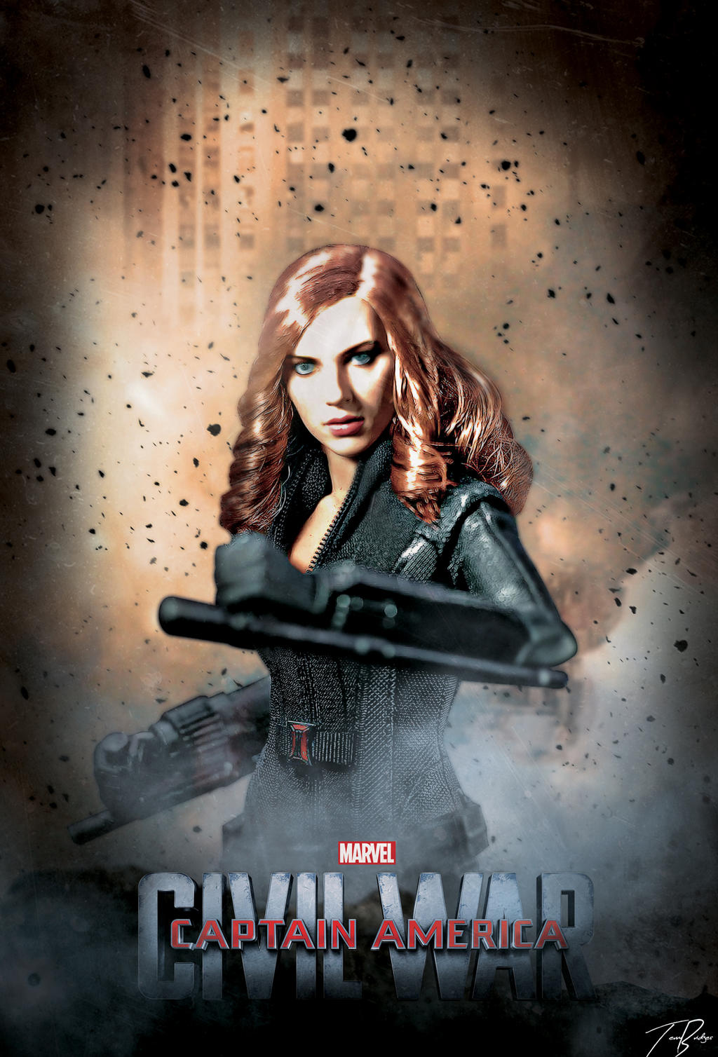 Captain America Civil War Poster : Black Widow by HZ ...Captain America 2 Poster Black Widow