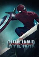 Captain America Civil War Poster : Spider-Man by HZ-Designs