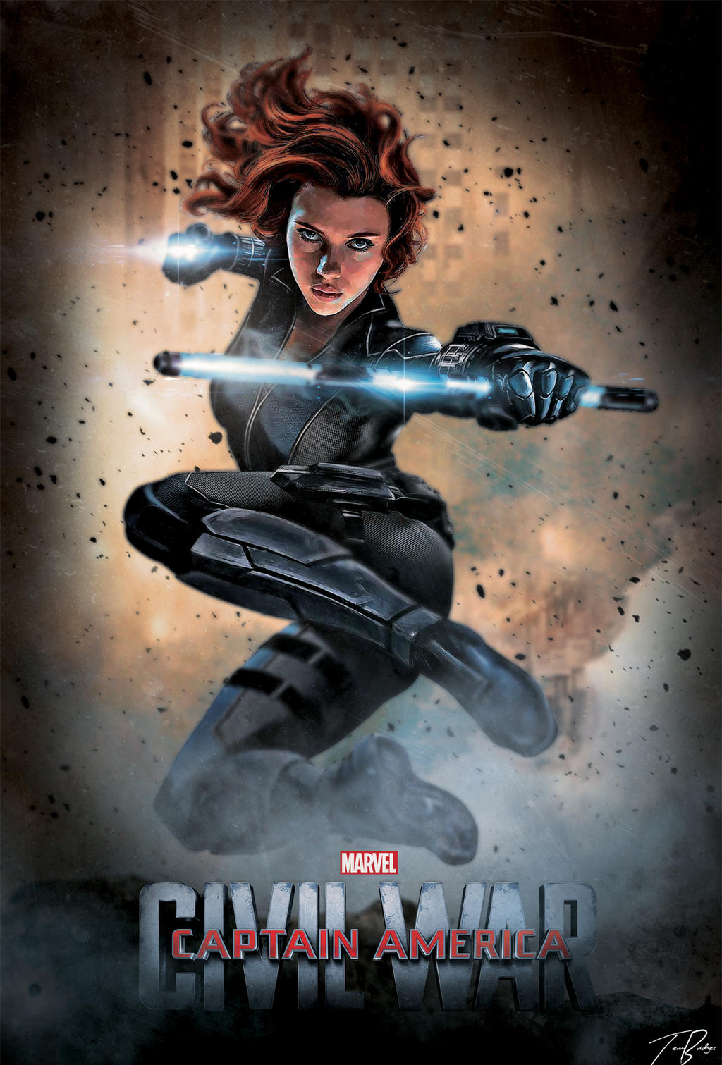 Captain America Civil War Poster : Black Widow 2 by HZ ...Captain America 2 Poster Black Widow