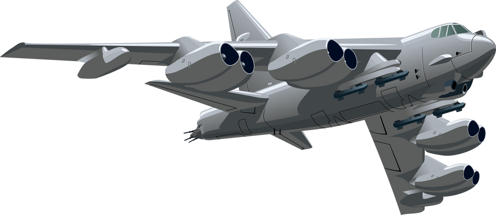 Bomber B 52 618120025 on Transparent Fighter Plane