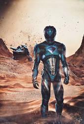 Blue Ranger Custom Poster by HZ-Designs