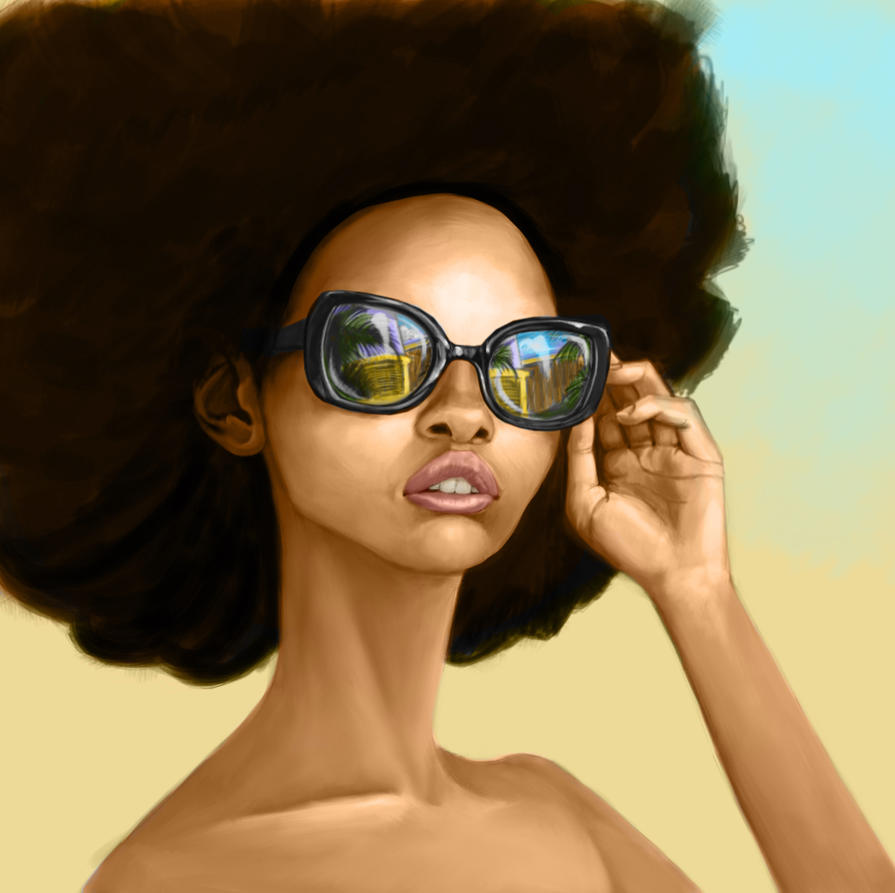 Afro Girl by pixel-putty