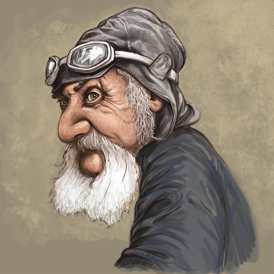 Old Biker Dude by pixel-putty