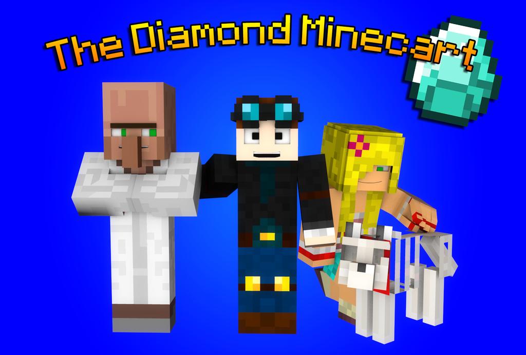 [Minecraft Render] The Diamond Minecart Art by Shipodoui ...