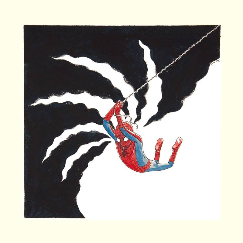 Swinging Spidey by curtistiegs