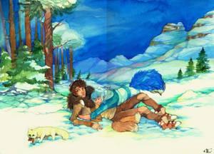 .:Commission - Winter hug:.