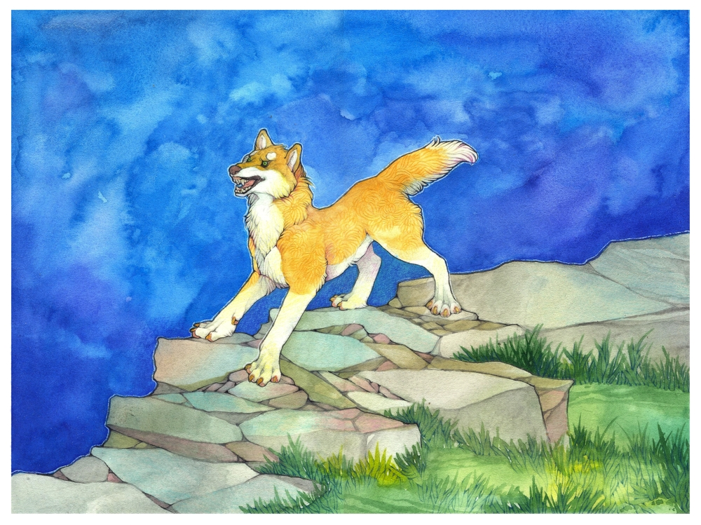 .:Commission - Golden wolf:. by 25Nanao16