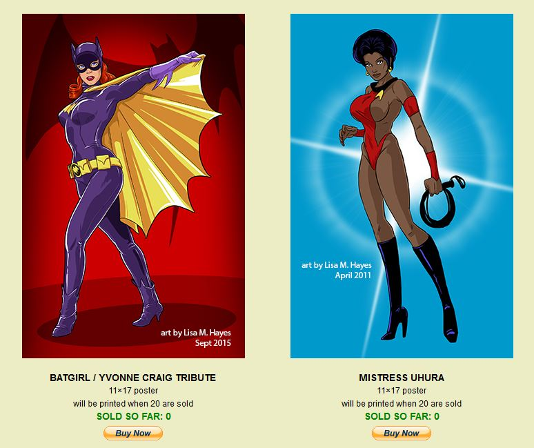 Batgirl and Uhura 11x17 posters by UltraFem