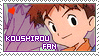 Stamp: Koushirou fan by larabytesU