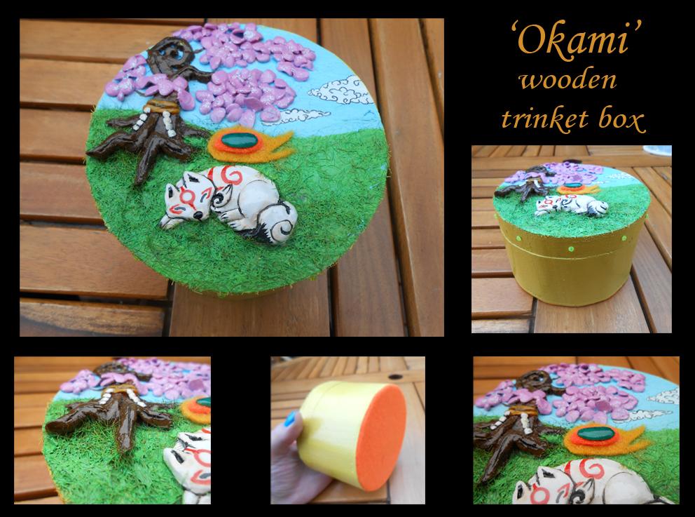 *SOLD* Okami wooden trinket box 2 by stephanie1600