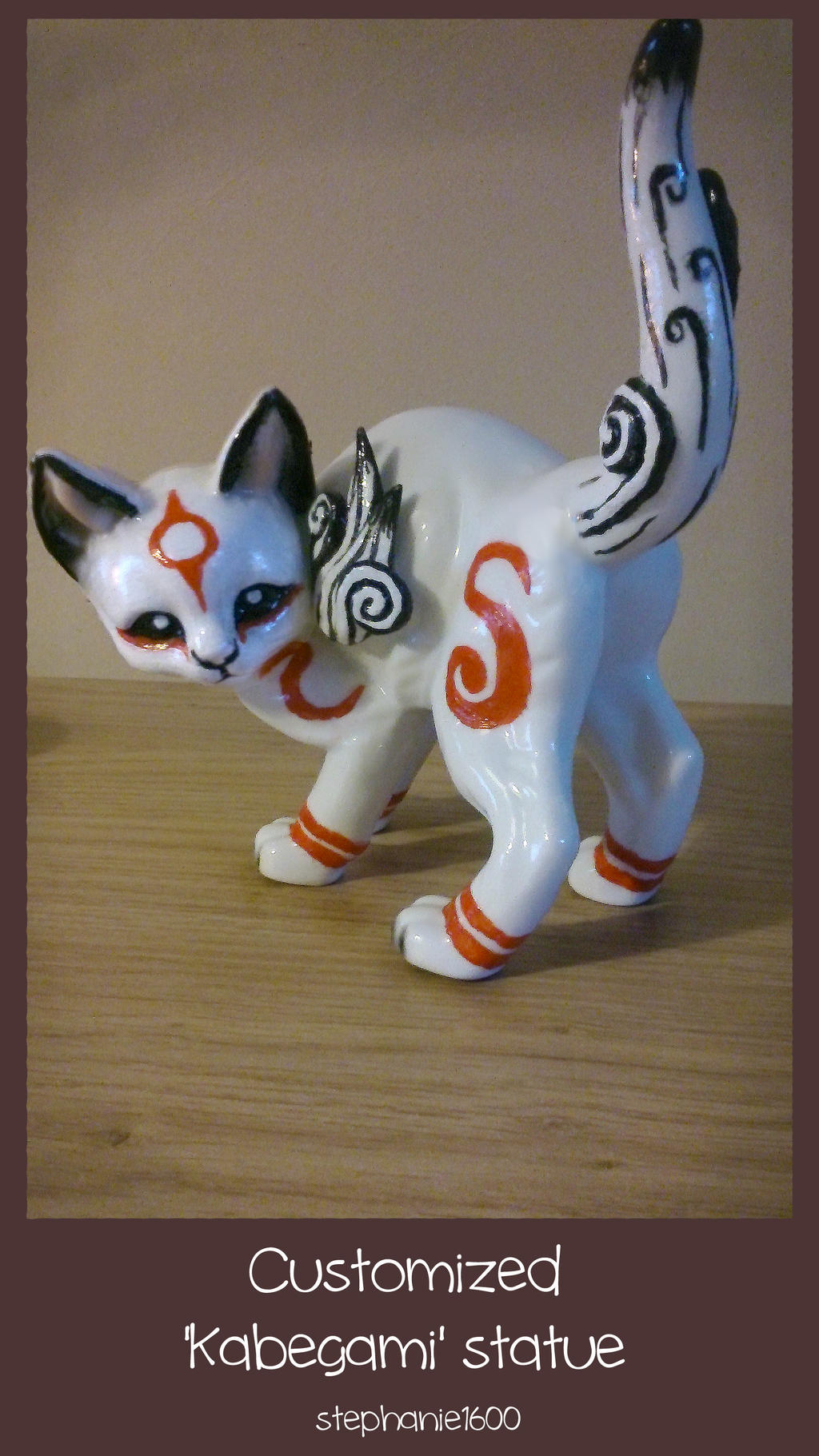 *SOLD* Customized 'Kabegami' statue by stephanie1600