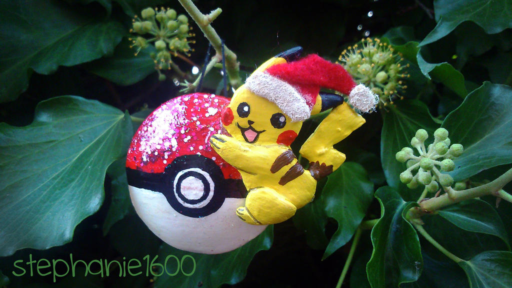 Pikachu Christmas Ornament.For Sale Pikachu Christmas Tree Ornament By Stephanie1600