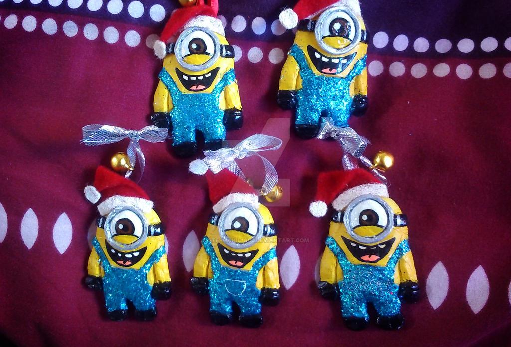 FOR SALE Minion Christmas Tree Ornaments by stephanie1600