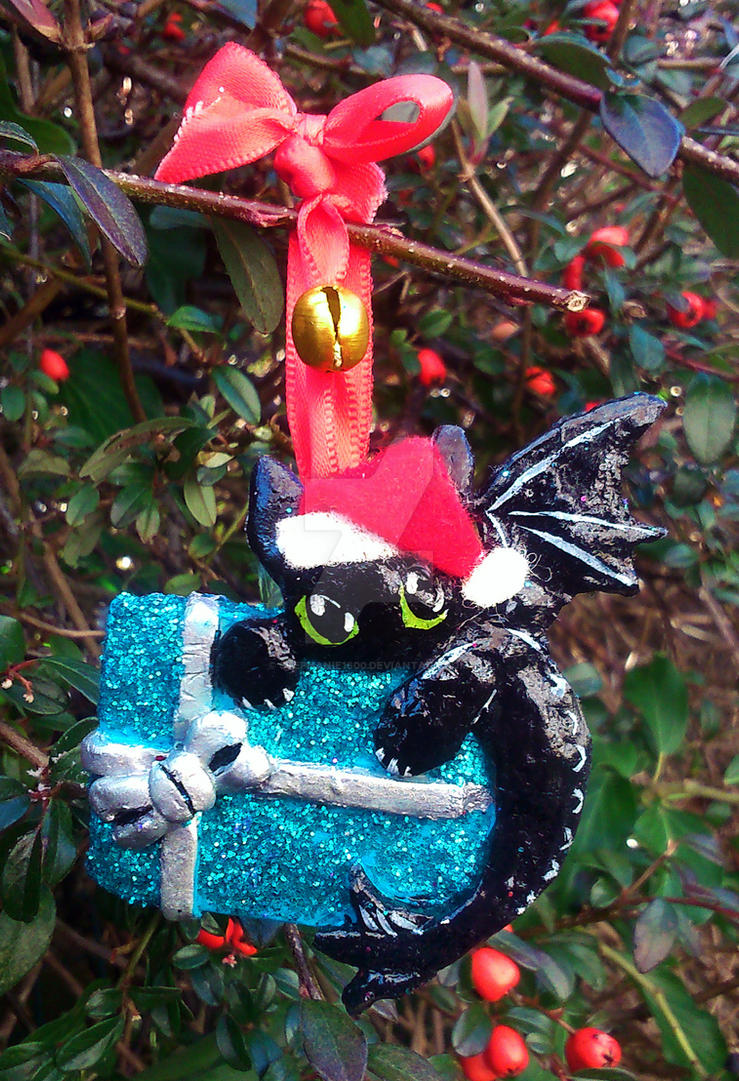 FOR SALE Toothless Christmas Tree decoration by stephanie1600