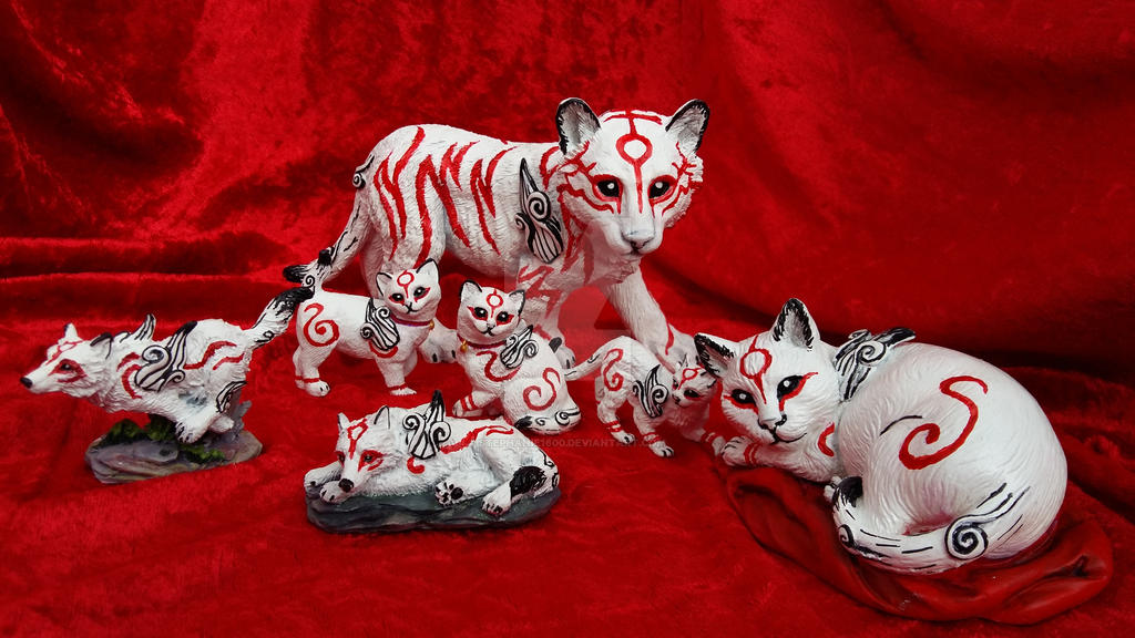Customized Okami figures FOR SALE!!! by stephanie1600