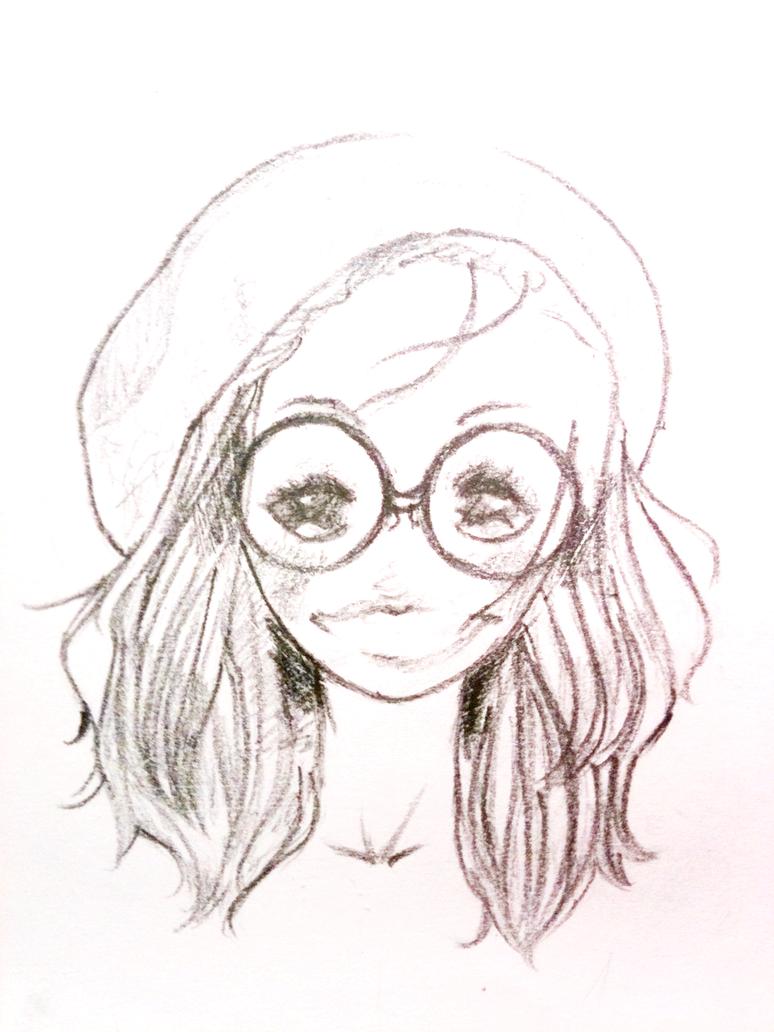 Cute Nerdy Girl By Janellox21