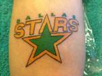 Dallas Stars Logo Tattoo