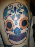Day Of Th Dead Skull Tattoo