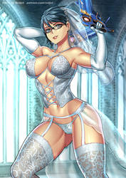 Bayonetta (Wedding lingerie) by Redjet00