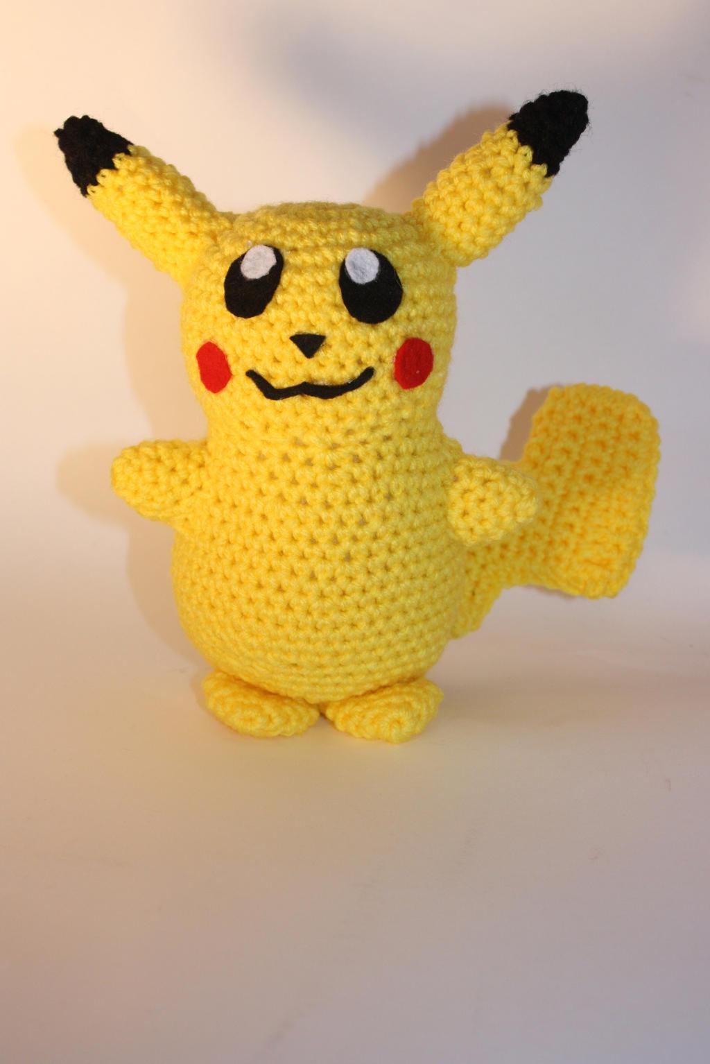 Crochet Pikachu Amigurumi by DunnWithLove on deviantART