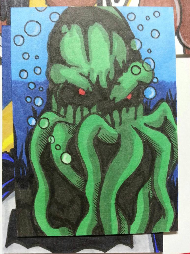 Cthulu sketch card by Chainsaw-Munkey