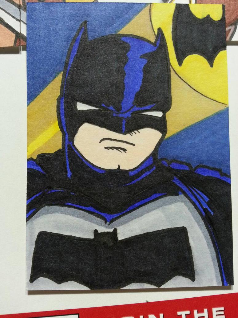Batman sketch card by Chainsaw-Munkey