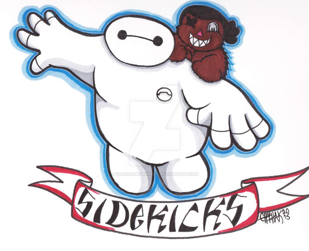 Sidekicks charity piece by Chainsaw-Munkey