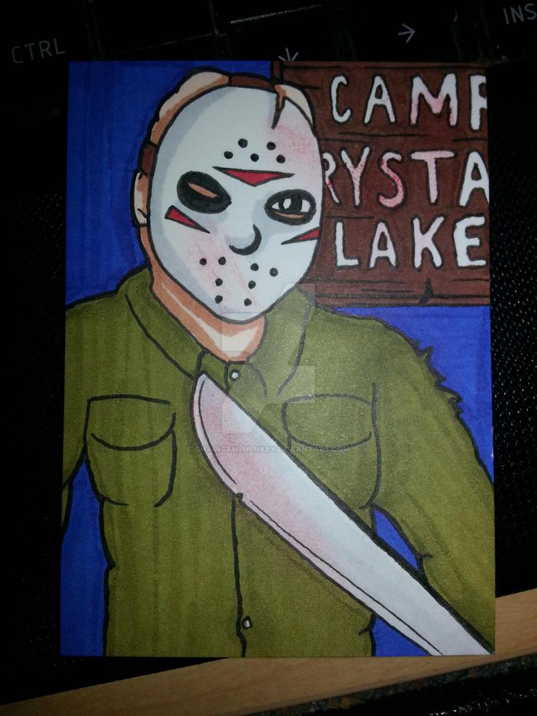 Jason Voorhees sketch card by Chainsaw-Munkey
