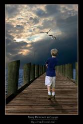 Watching Heaven Open by BlessedMomentArtwork