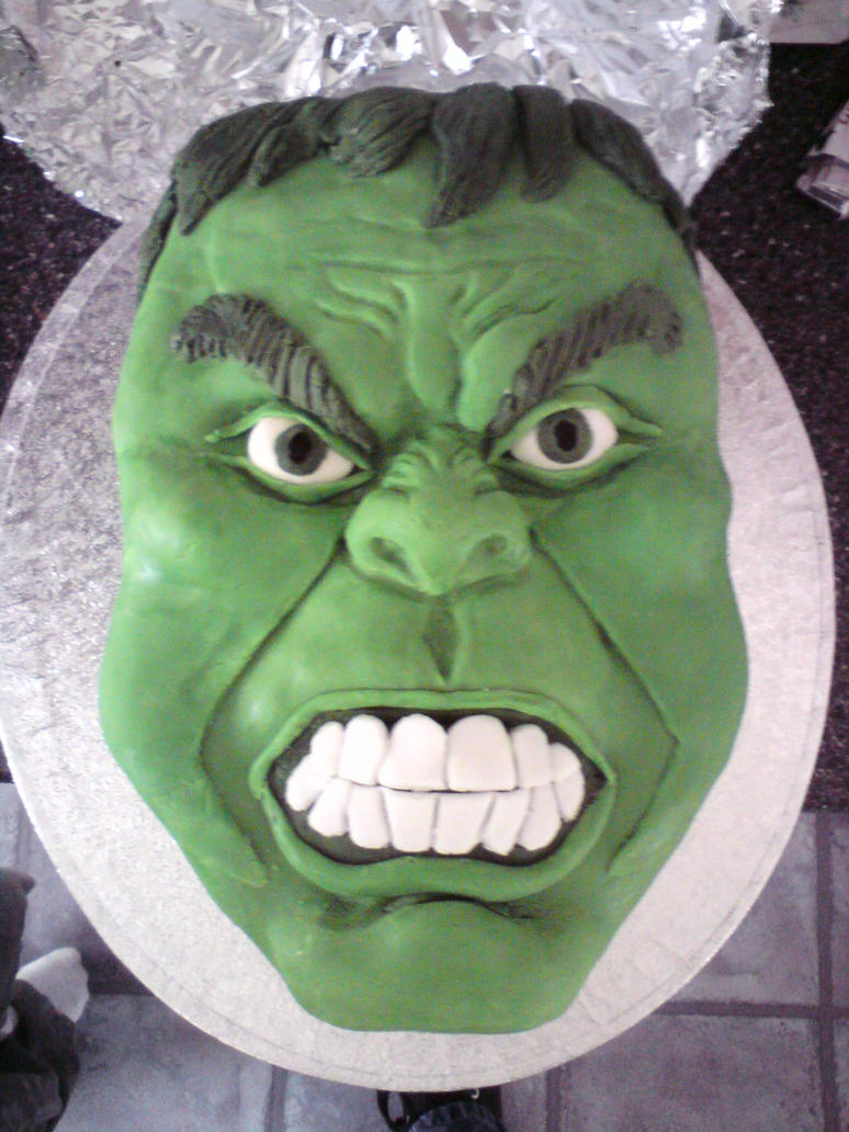 Hulk Cake by SugarTreece123 on DeviantArt