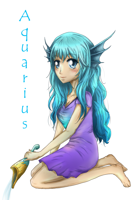Aquarius-zodiac by Rashirou on deviantART  Anime Aquarius