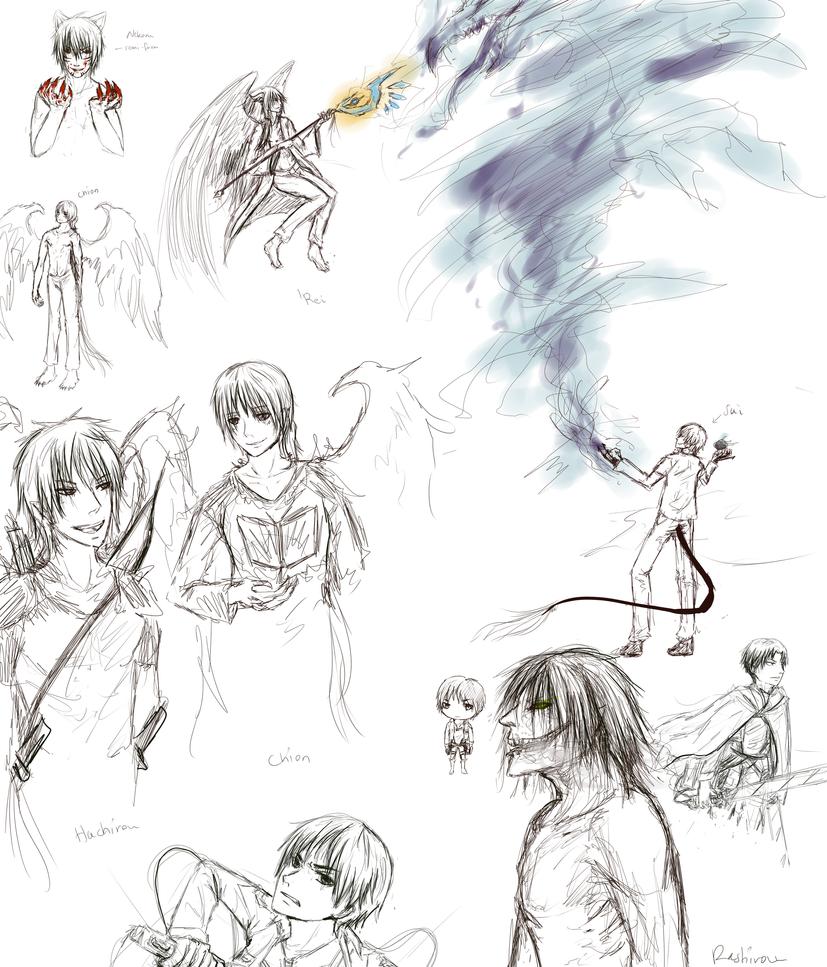 random sketches by Rashirou