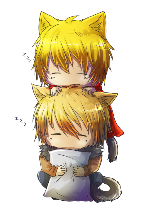 zzz-Neko and Shineko by Rashirou