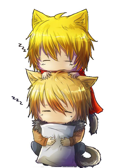 zzz-Neko and Shineko by Rashirou