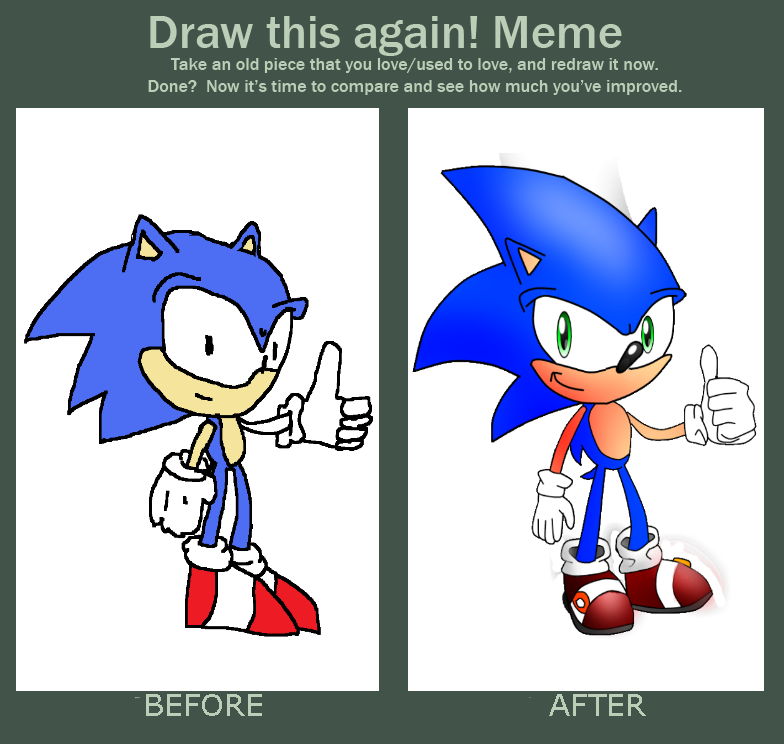 Draw This Again Meme Sonic The Hedgehog By Xxthathedgehogxx On Deviantart
