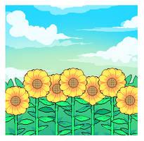 field of sun by sheasun