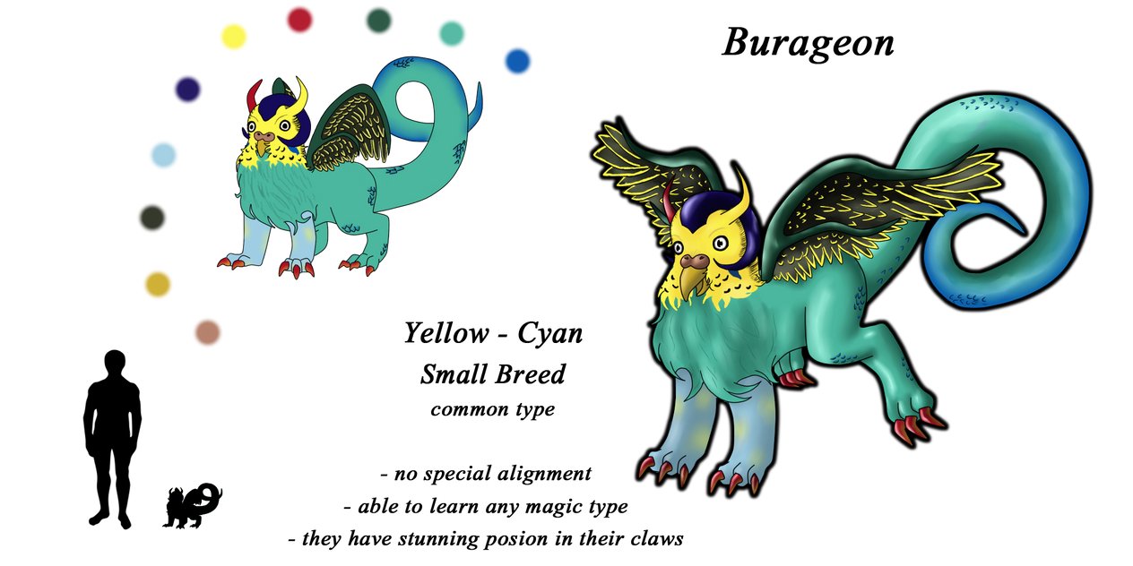Burageon Adopt: Yellow-Cyan by Beagon