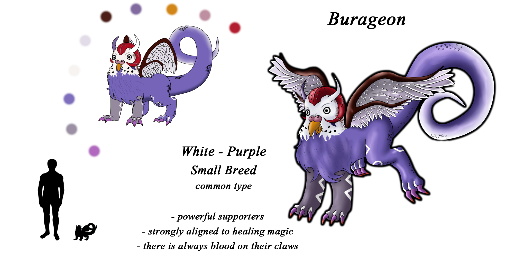Burageon Adopt: White-Purple by Beagon