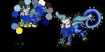 Burageon Adopt: White-Blue by Beagon